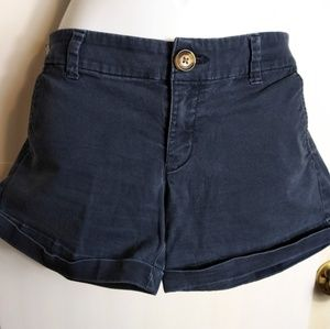 🤑 2/$25 American Eagle sz 8 blue stretch shorts